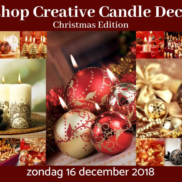 Kaarsen Beschilderen Met Acrylverf.Creative Candle Decoration Christmas Edition